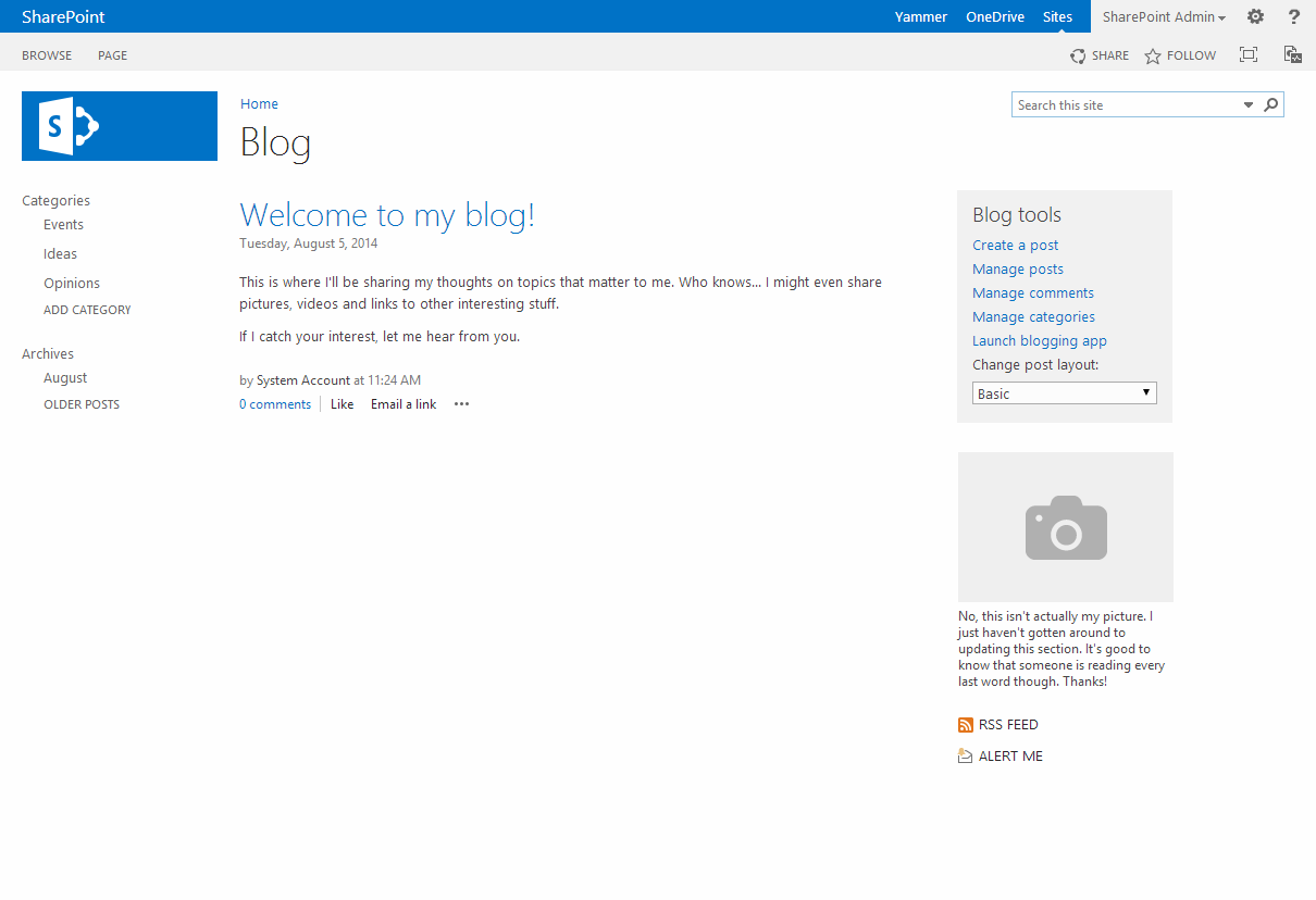 Commonly used Web Templates in SharePoint 2013 with screenshots ...