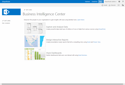 Business Intelligence Center
