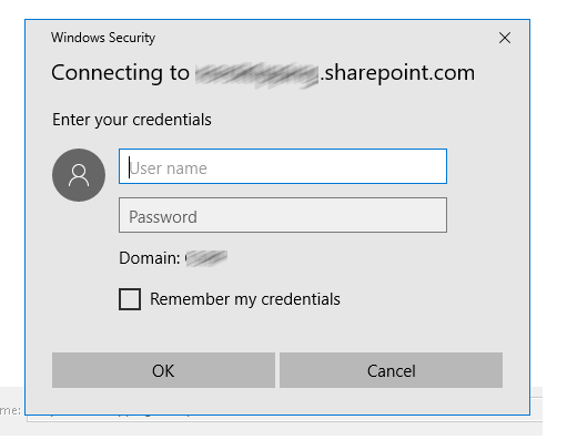 Problem with connecting to SharePoint Online in Office 365 with